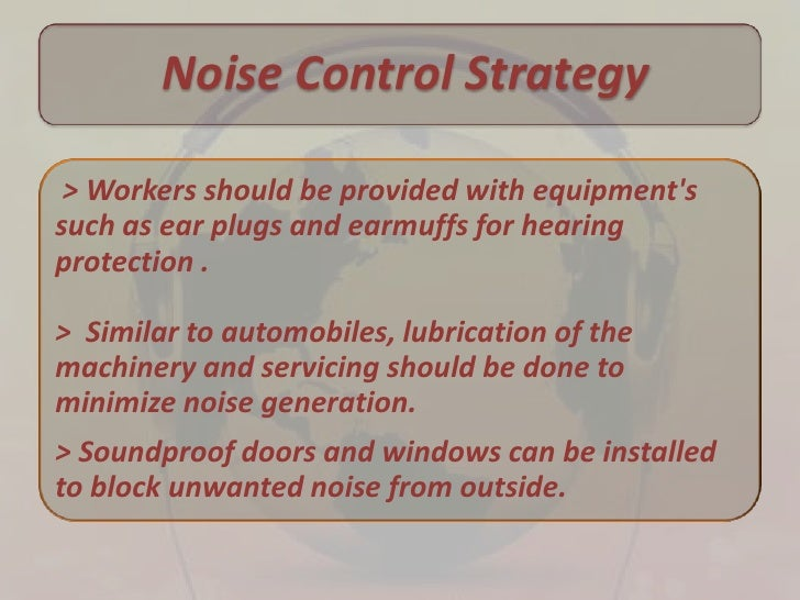 how to control noise pollution pdf