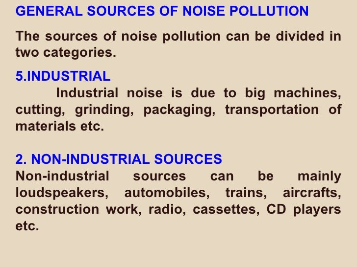 Pdf noise pollution