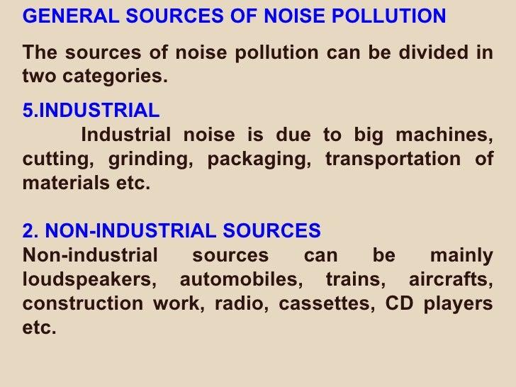 Pdf noise pollution