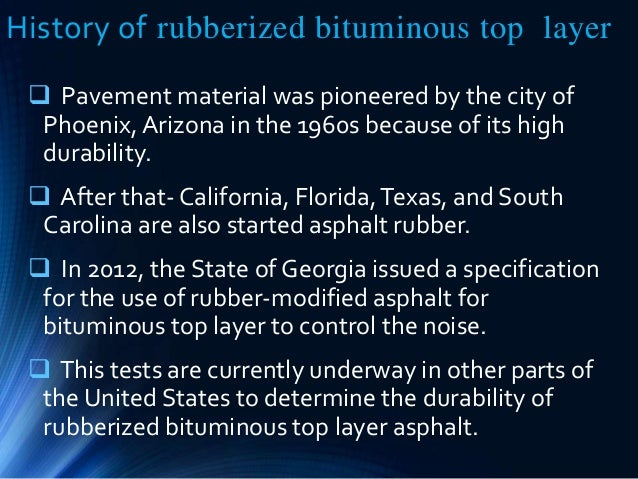 Noise Reduction In Pavement Made Of Rubberized Bituminious