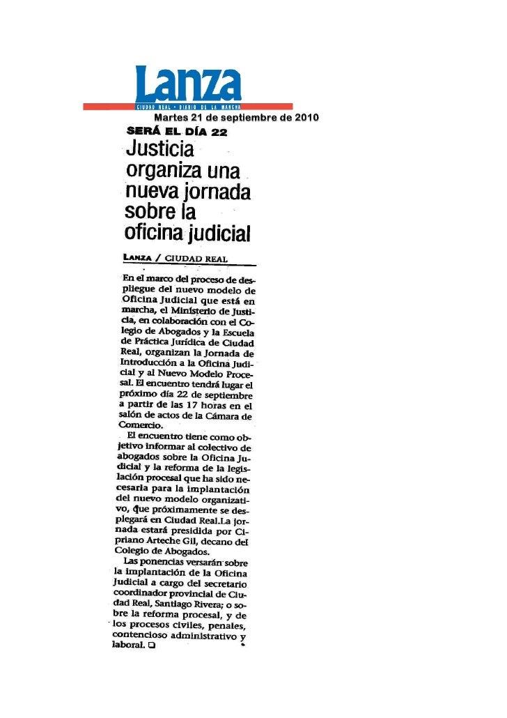 Jornada sobre oficina judicial para abogados de ciudad real for Oficina judicial murcia