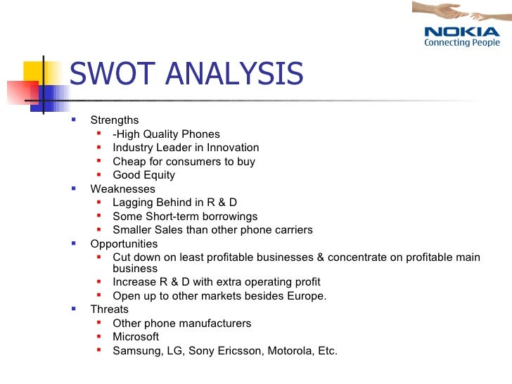 market analysis of nokia With an aim to regain its position as a market leader, nokia entered in to a   competitor analysis nokia's biggest competitors are apple and samsung.