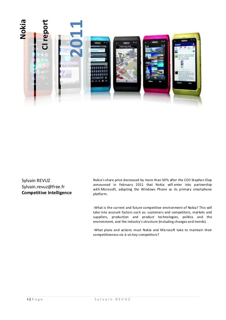 nokia competitor analysis Read this essay on strategic management apple and nokia case analysis come browse our large digital warehouse of free sample essays get the knowledge you need in order to pass your.