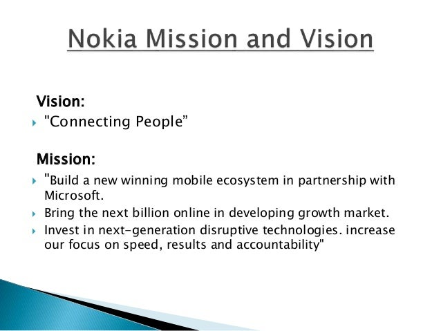 strategy statement of nokia