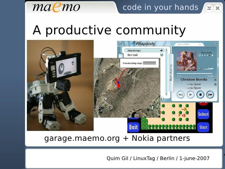 The current open source context                  Quim Gil / LinuxTag / Berlin / 1-june/2007