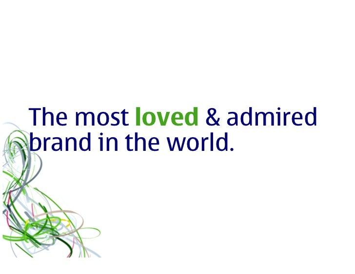 Nokia brand & design priorities Slide 2