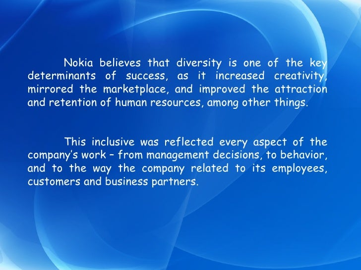 Developing innovation at nokia