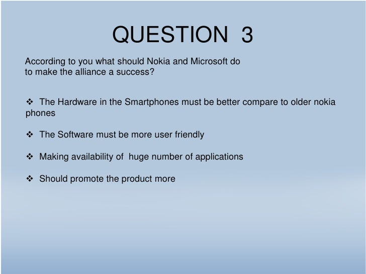Nokia microsoft alliance