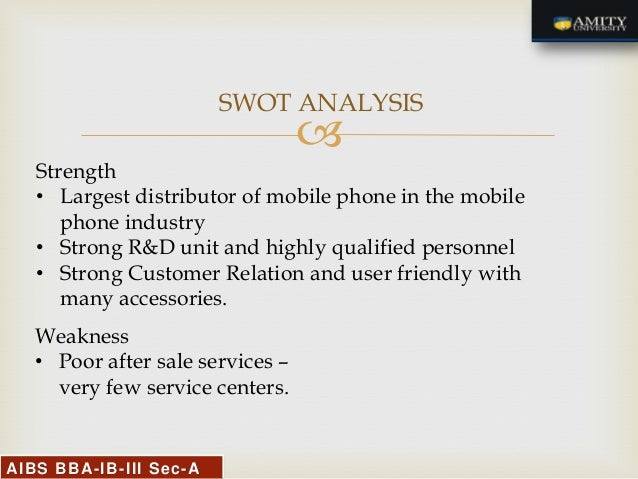 swot analysis of sony smartphone