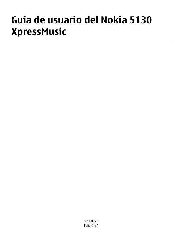 Guía de usuario del Nokia 5130 XpressMusic  9213072 Edición 1