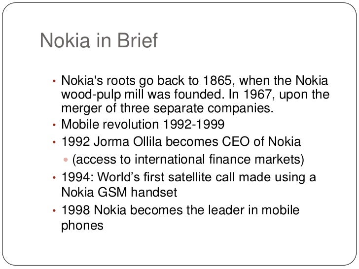 nokias pricing strategy Our strategy will not be based on what the competition does and at a price at which we think the price-value equation is fair our strategy will not be based on.