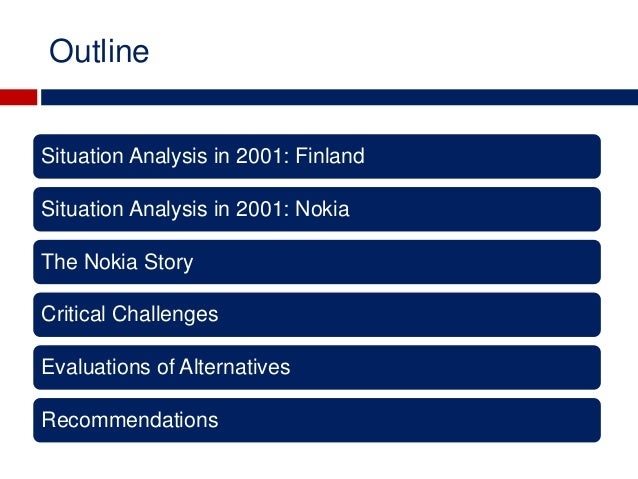 finland and nokia case study analysis Nokia and finland case solution, nokia and finland case solution threat of new entrants the threat of new entrant is low in the market it is due to the low economic down turn and limited.
