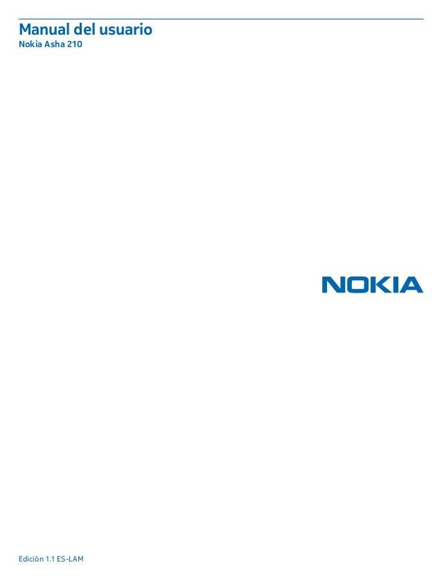 Manual del usuario Nokia Asha 210 Edición 1.1 ES-LAM