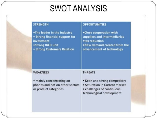 nokia swot View nokia case - g11 from finance e236c at london business school   what are the current strengths, weaknesses, opportunities and threats (swot.