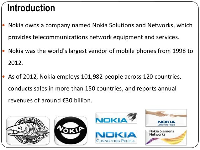 a case study on nokia corporation the world leading mobile phone maker Nokia's vision statement essay - nokia corporation (nokia) is a big player in mobile world's number one maker nokia case study - nokia: a phone for.
