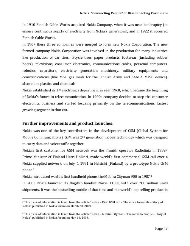 the case study of nokia marketing essay Nokia case study: how can nokia maintain its market position in the mature european market - - term paper - business economics - marketing, corporate communication, crm, market research, social media - publish your bachelor's or master's thesis, dissertation, term paper or essay.