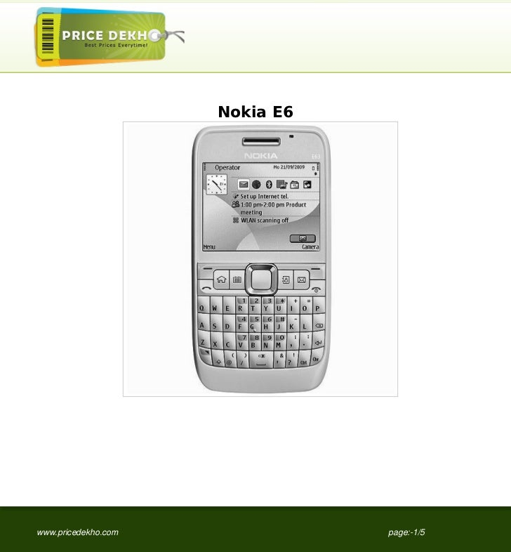 Nokia+E6+specification