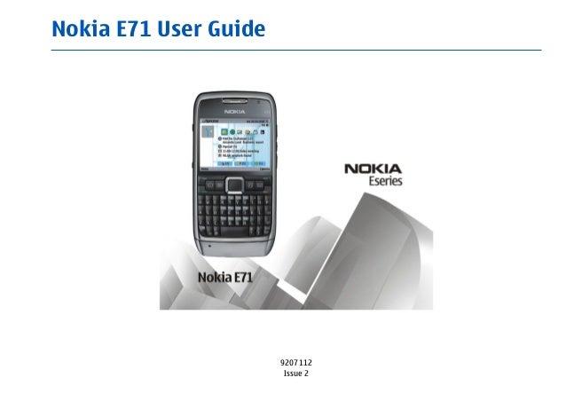 Nokia E71 User Guide 9207112 Issue 2