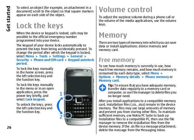 nokia e71 1 ug en rh slideshare net Nokia E73 Nokia E70