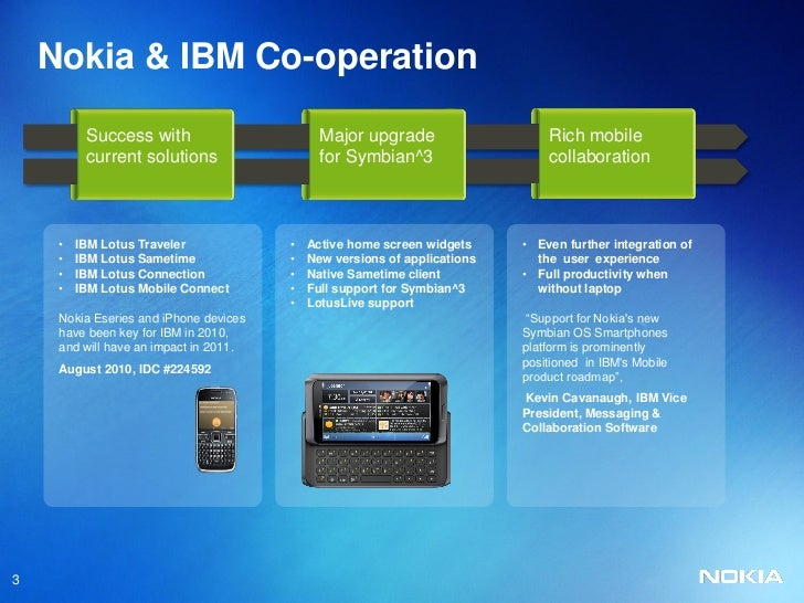 Nokia E7 Smartphone Nokia And Ibm Co Operation