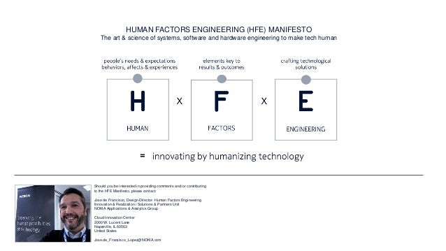NOKIA HFE17 - HUMAN FACTORS ENGINEERING CONFERENCE