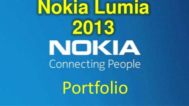 Nokia Lumia 2013 Portfolio