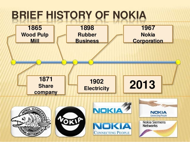 the history of nokia