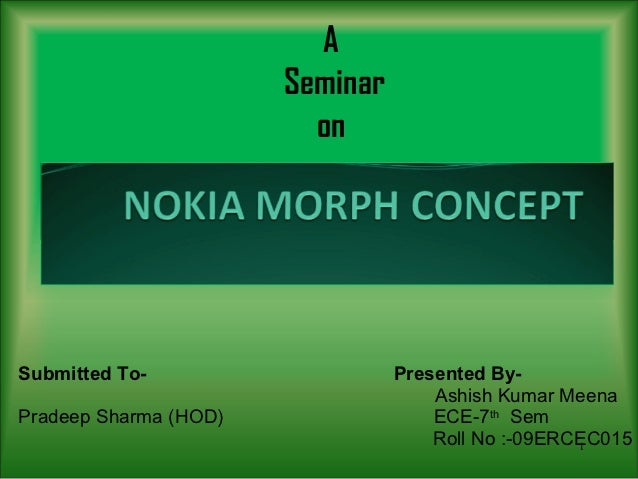 A                       Seminar                         onSubmitted To-                    Presented By-                  ...
