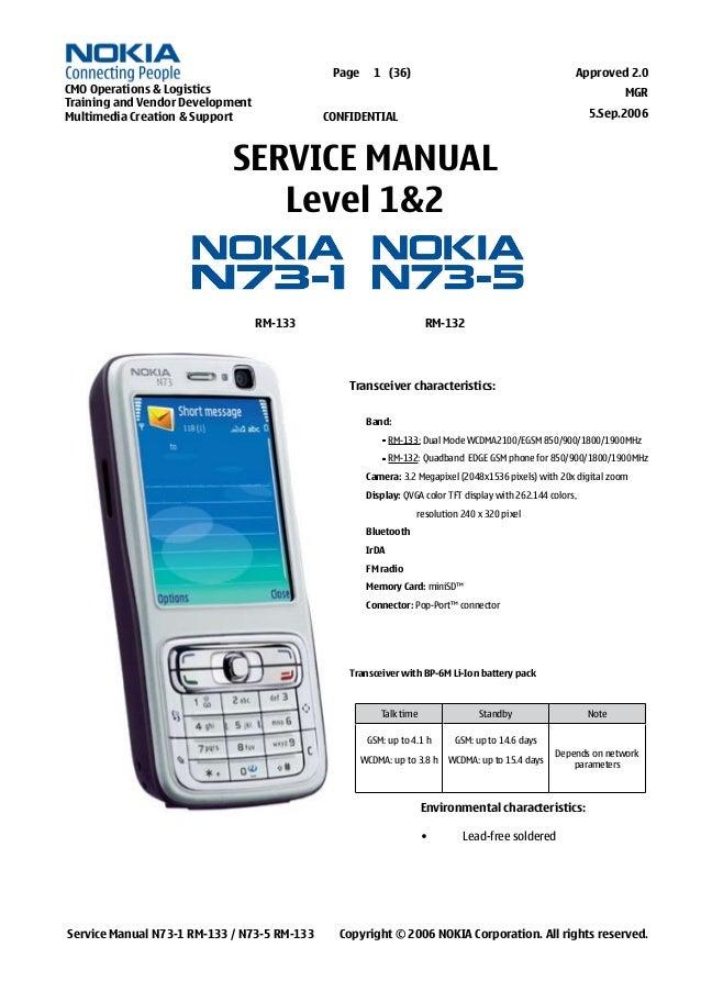 nokia n73 service manual level 1 2 rh slideshare net Nokia N95 Nokia N70
