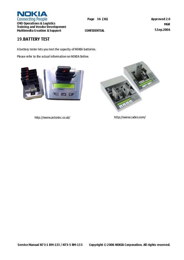 nokia n73 service manual  level 1 2