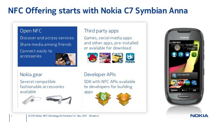 Nokia nfc presentation 2011 chunan li 3 nfc offering starts with nokia c7 reheart Images