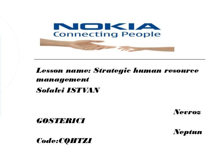 Lesson name: Strategic human resourcemanagementSofalvi ISTVAN                               NevrozGOSTERICI               ...