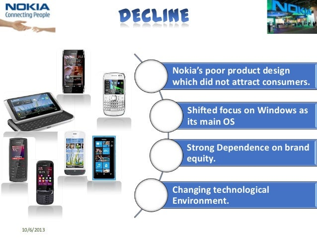 decline stage of nokia N rapidly declining fortunes in the past few years have sent shock  was openly  considering whether it could overtake market leader nokia oyj.