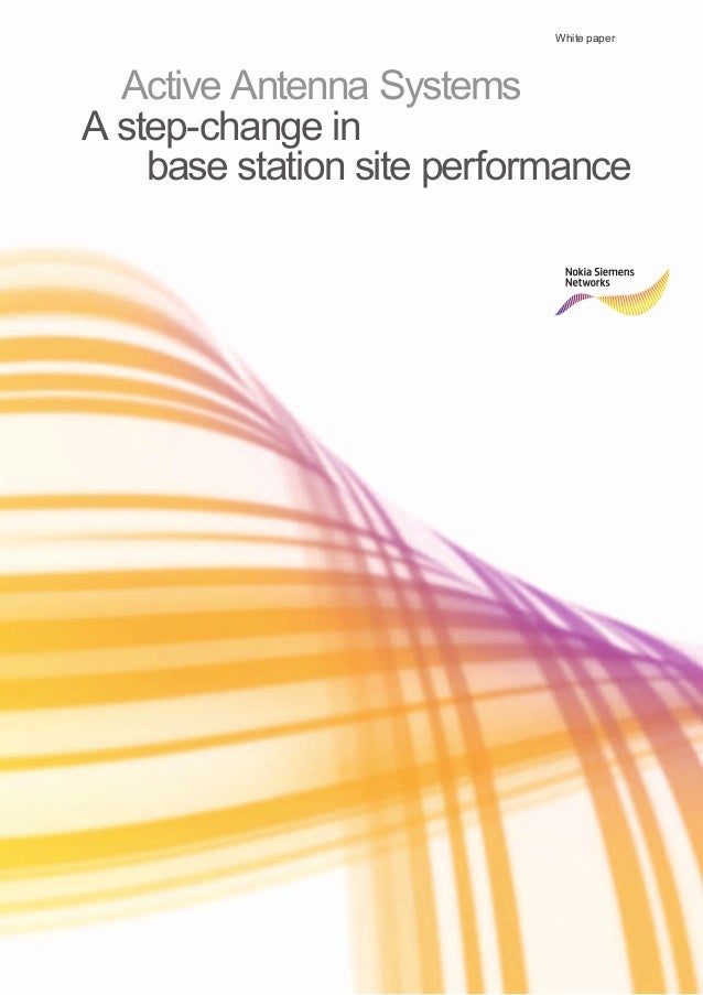 White paper  Active Antenna Systems  A step-change in base station site performance