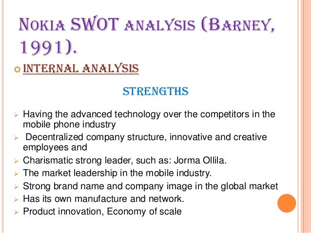swot of nokia Strengths, weaknesses, opportunities and threats (swot) analysis is a strategy development tool that matches internal organizational strengths and weaknesses with external opportunities and threats.