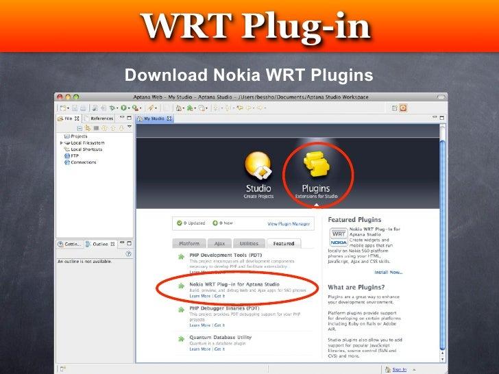Create Nokia WRT Widget App