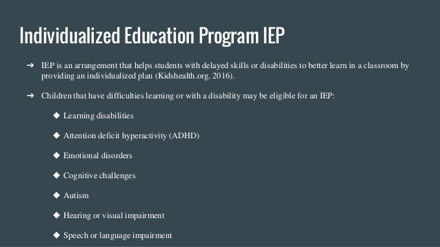 Individualized Education Programs Ieps For Parents Kidshealth >> Assistive Technology Presentation