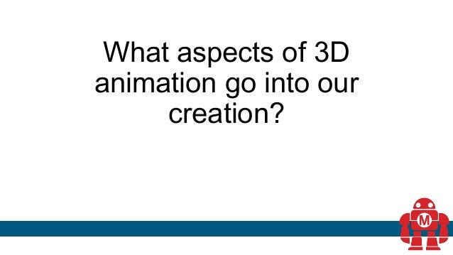 What aspects of 3D animation go into our creation?