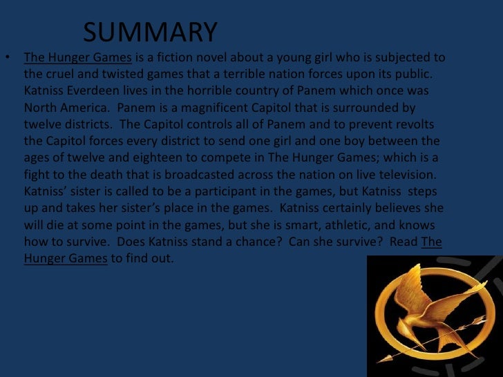 Hunger games book one summary