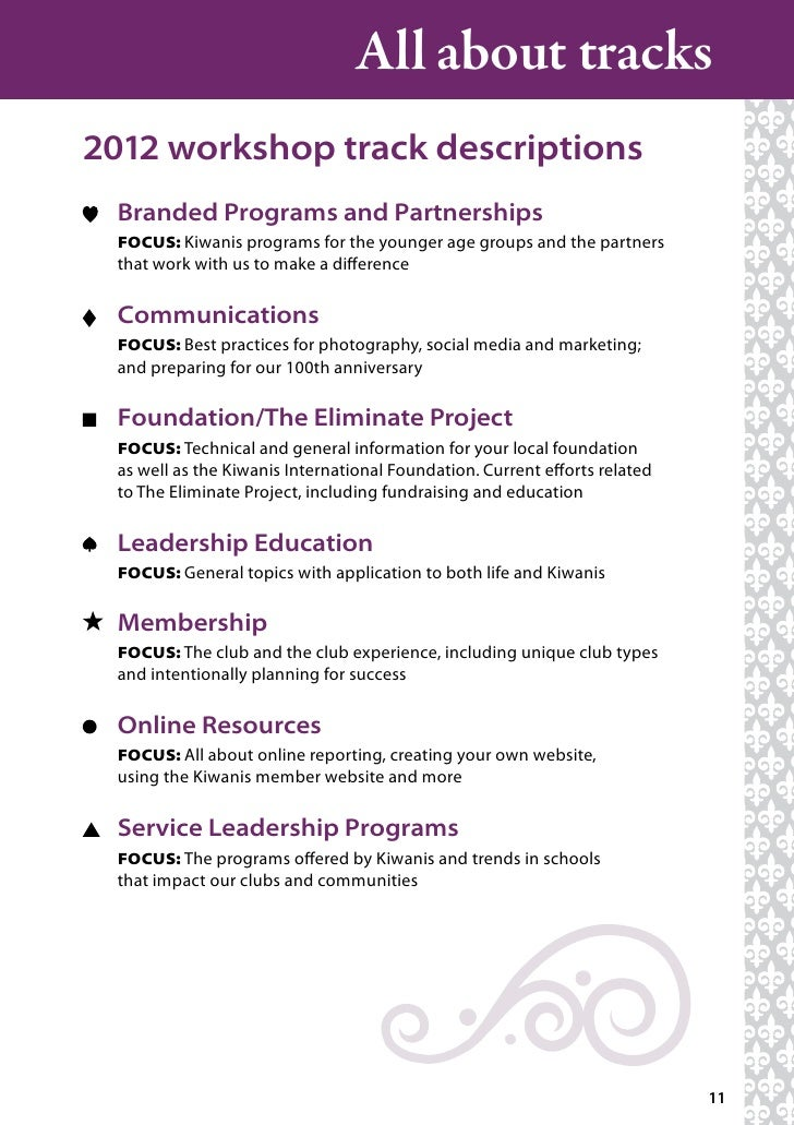 Kiwanis International Convention Program (New Orleans 2012)