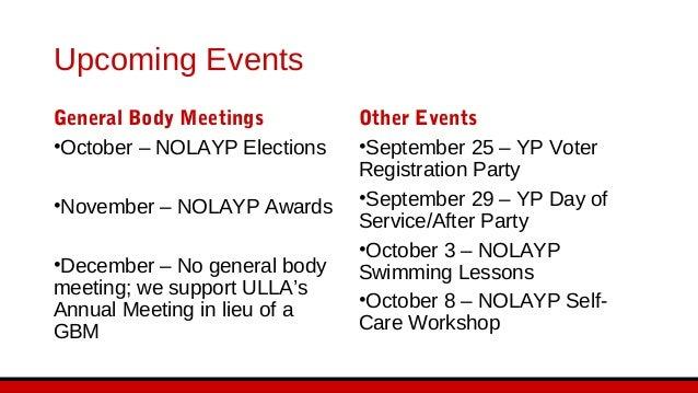 NOLAYP New Member Orientation
