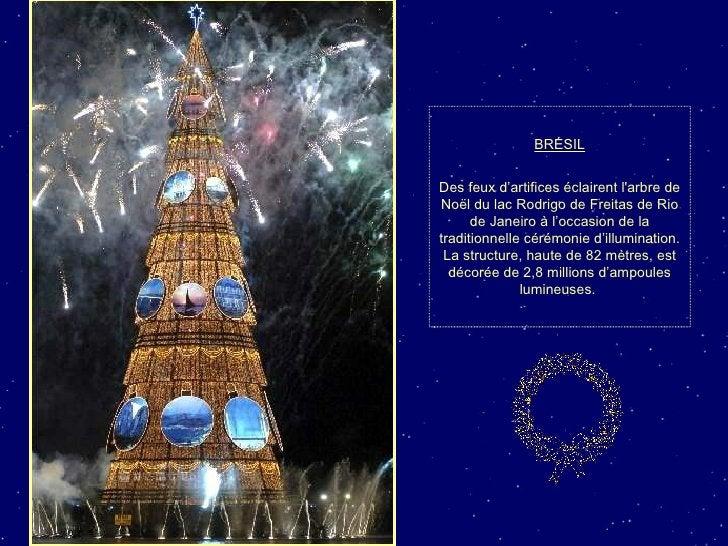 BRÉSIL Des feux d'artifices éclairent l'arbre de Noël du lac Rodrigo de Freitas de Rio de Janeiro à l'occasion de la tradi...