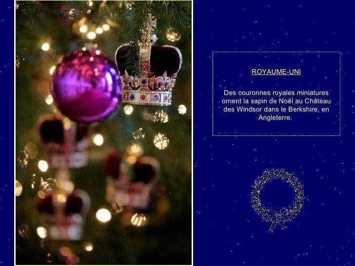 ROYAUME-UNI Des couronnes royales miniatures ornent la sapin de Noël au Château des Windsor dans le Berkshire, en Angleter...