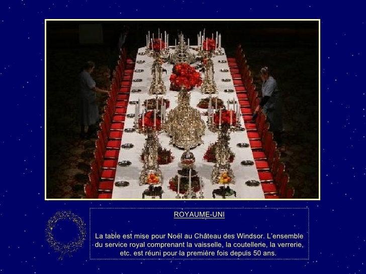 ROYAUME-UNI La table est mise pour Noël au Château des Windsor. L'ensemble du service royal comprenant la vaisselle, la co...