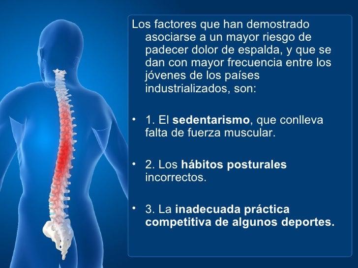 Duele la espalda en la parte izquierda donde el riñón y las ganas frecuentes en el excusado