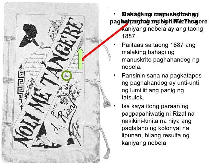 Makikita na bago ang bahagi ng paghahandog ni Rizal sa kaniyang nobela ay ang taong 1887. Paiitaas sa taong 1887 ang malak...