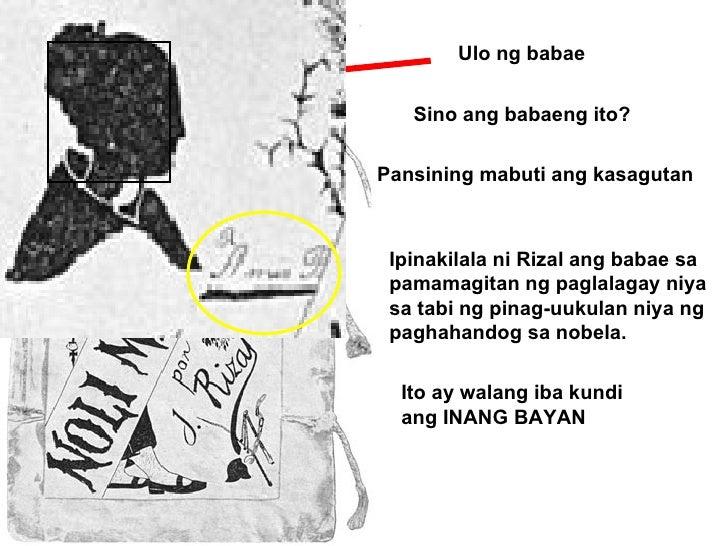 Ulo ng babae Sino ang babaeng ito? Pansining mabuti ang kasagutan Ipinakilala ni Rizal ang babae sa pamamagitan ng paglala...