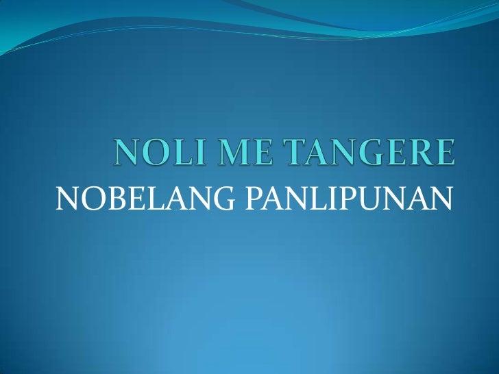 Comparison of noli metangere and el