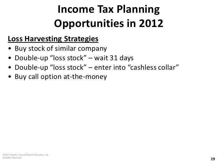 Stock options tax strategy