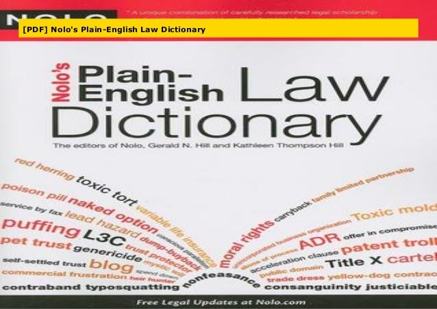 Nolos Plain-English Law Dictionary